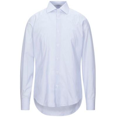ALV ANDARE LONTANO VIAGGIANDO シャツ スカイブルー 39 コットン 100% シャツ