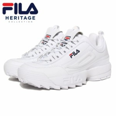 FILA フィラ DISRUPTOR 2 F0215 春夏秋冬 スニーカー ホワイト 27.0 27.5 28.0