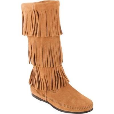 ミネトンカ Minnetonka レディース ブーツ シューズ・靴 Calf Hi 3-Layer Fringe Boot Taupe