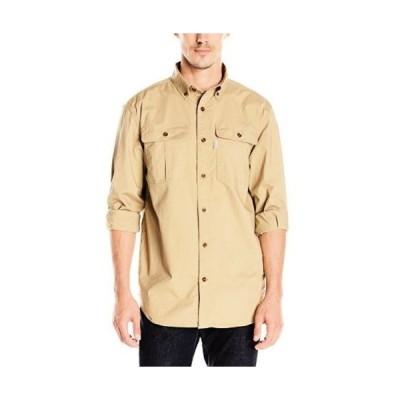 カジュアルシャツ カーハート Carhartt スポーツwear - メンズ 101554-001 長袖 Solid Work. Dark Khaki