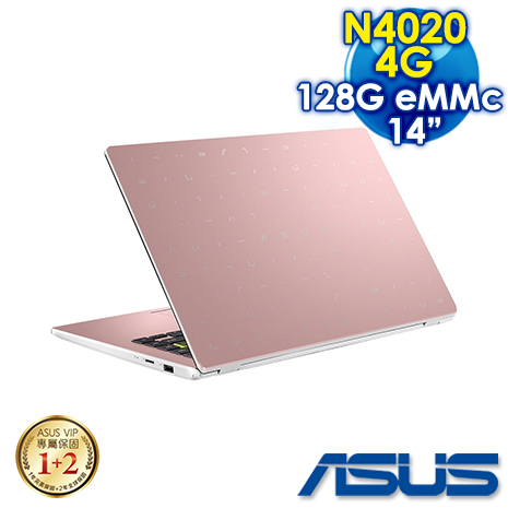 "【預購】ASUS華碩 E410MA-0661PN4020 玫瑰金(14"" FHD/Intel/N4020/4G/EMMC 128GB/Win10 S)"