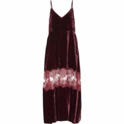 ステラ マッカートニー Stella McCartney レディース ワンピース ワンピース・ドレス Kelsey velvet dress Burgundy