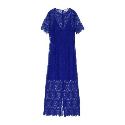 ダイアンフォンファステンバーグ DIANE VON FURSTENBERG ロングワンピース&ドレス ブルー 2 97% ポリエステル 3% ポリウ