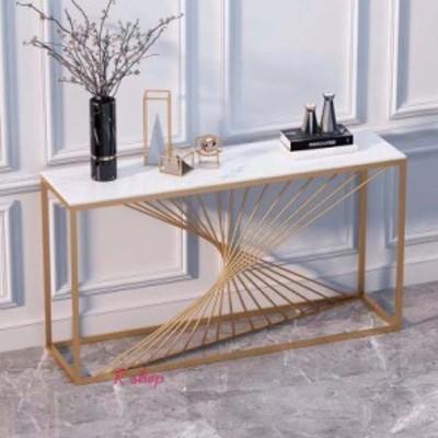 A高級大理石サイドテーブル .コンソールテーブル 玄関テーブル 花台 電話台 アンティーク調デザイン 幅100cm