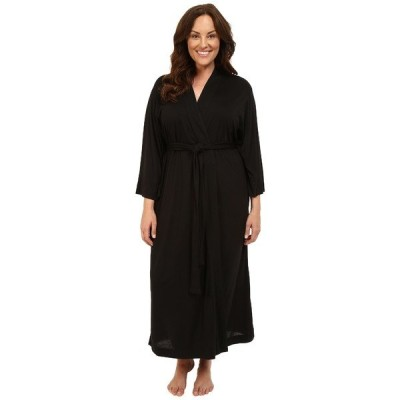 ナトリ ナイトウェア レディース Plus Size Shangri-La Robe Black