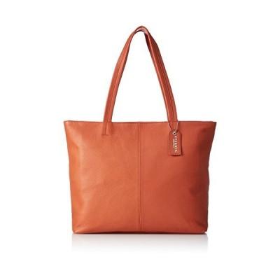 [エバウィン] 【日本製】ビジネスバック トートバッグ 牛革 A4サイズ収納可 EW22109 オレンジ(内装ネイビー)