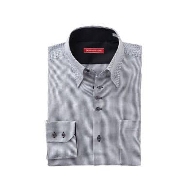 形態安定長袖ワイシャツ(マイターボタンダウン)(標準シルエット) (ワイシャツ)Shirts, テレワーク, 在宅, リモート