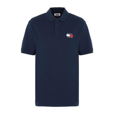 TOMMY JEANS ポロシャツ ダークブルー S コットン BCI 100% ポロシャツ