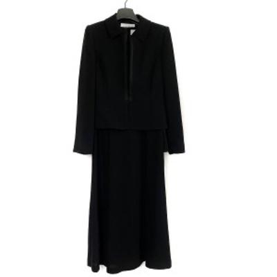 ソワール ペルル SOIR PERLE ワンピーススーツ サイズ9 M レディース - 黒【中古】20210328