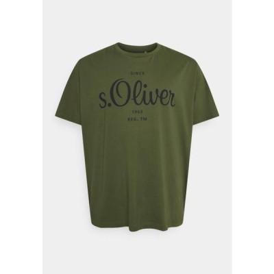 メンズ ファッション KURZARM - Print T-shirt - khaki/oliv