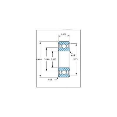 ミネベア ボール・ベアリング DDR-620ZZ ステンレス 2x6x3mm