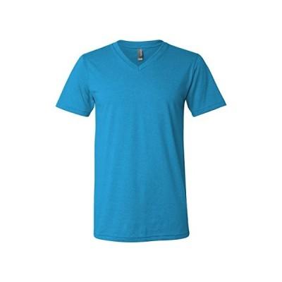Bella mens Unisex Jersey Short-Sleeve V-Neck T-Shirt(3005)-NEON BLUE-3XL