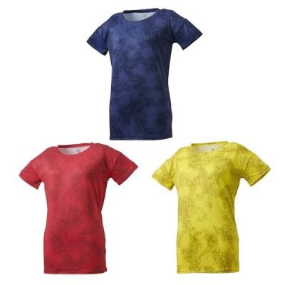 デサント レディース トレーニング シャツ グラフィック Tシャツ DMWNJA56 メール便利用可