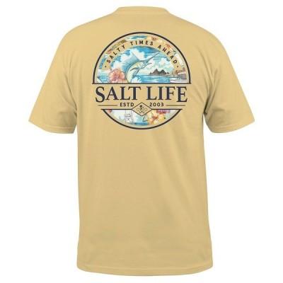 ソルトライフ Tシャツ トップス メンズ Men's Salty Times Graphic T-Shirt Golden Haze