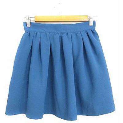 【中古】アーバンリサーチ URBAN RESEARCH スカート ギャザー ミニ F 青 ブルー /AAM41 レディース