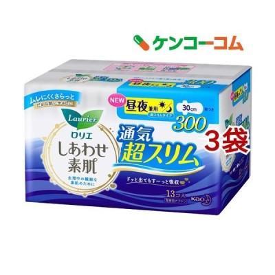 ロリエ しあわせ素肌 通気超スリム 昼夜兼用30cm 羽つき ( 13個入*3袋セット )/ ロリエ