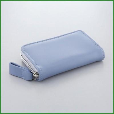 送料無料 FLOWERING フラワーリング カードケース シンプル ブルー GCC0006-BL|b03