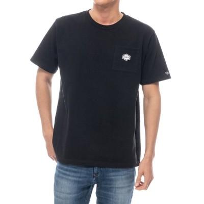 ルーカ 半袖 ポケット Tシャツ ブラック 黒 ポケT サーフィン スケート メンズ レディース RVCA TINY PATCH RVCA S/S T BLACK BA041253