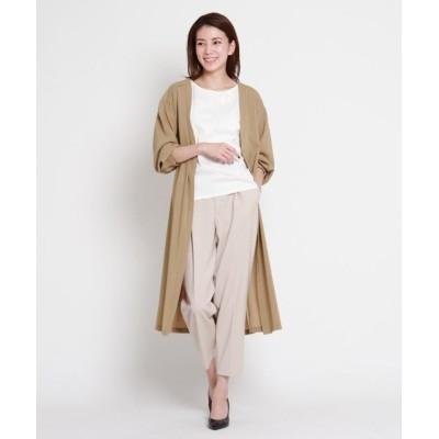 【スーナウーナ】 軽羽織ロングシャツ+刺繍Tシャツセット レディース ベージュ 34(SS) SunaUna