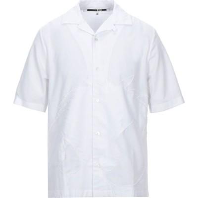 アレキサンダー マックイーン McQ Alexander McQueen メンズ シャツ トップス solid color shirt White