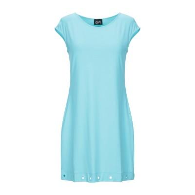 クリスティーズ CHRISTIES ミニワンピース&ドレス ターコイズブルー L ナイロン 86% / ポリウレタン 14% ミニワンピース&ドレス