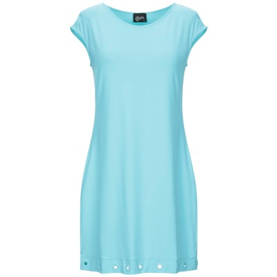 クリスティーズ CHRISTIES ミニワンピース&ドレス ターコイズブルー S ナイロン 86% / ポリウレタン 14% ミニワンピース&ドレス