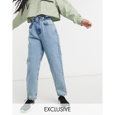 リクレイム ヴィンテージ レディース デニムパンツ ボトムス Reclaimed Vintage inspired The '96 mom jeans with gathered high waist in vintage blue wash