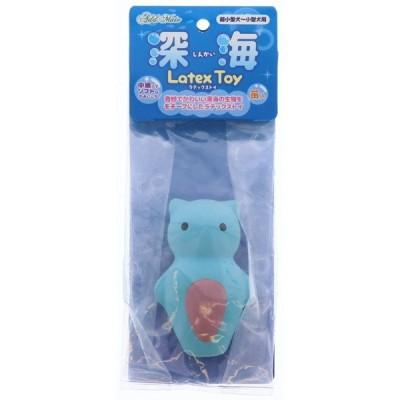 ペティオ:深海ラテックストイ クリオネ 犬用 用品 おもちゃ 玩具 ラテックス ボール 音 小型犬