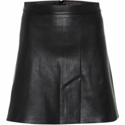 ストールス Stouls レディース ミニスカート スカート Santa leather miniskirt black