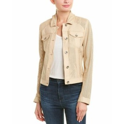 ファッション 衣類 Jakett Maya Perforated Washed Leather Jacket S