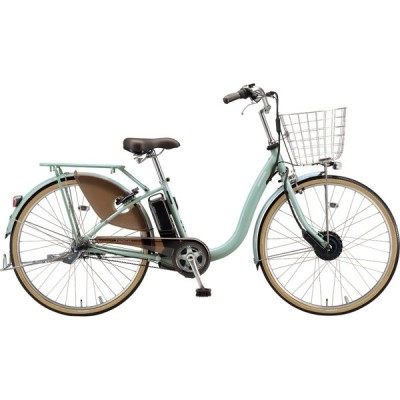 送料無料 ブリヂストン 電動アシスト自転車 フロンティアDX F4DB41 E.Xグレッシュミント