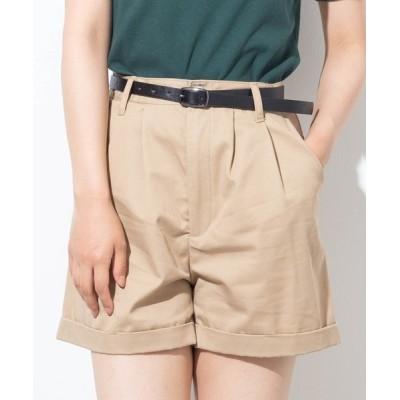WEGO / WEGO/【2点セット】ベルト付きロールアップショーツ WOMEN パンツ > チノパンツ