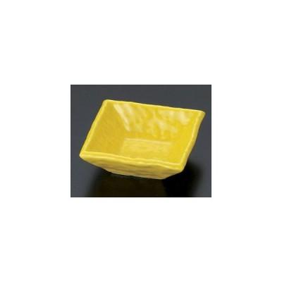 和食器黄正角千代久/大きさ・7.7×7.7×2.8cm