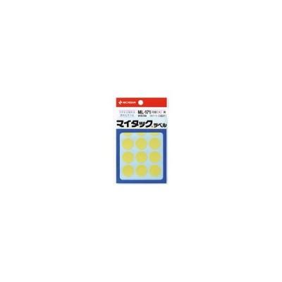 ニチバン/マイタックラベル円型黄 直径20mm 12片×15シート/ML-1712