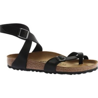 ビルケンシュトック レディース サンダル シューズ Yara Oil Leather Toe Loop Sandal Black Oiled