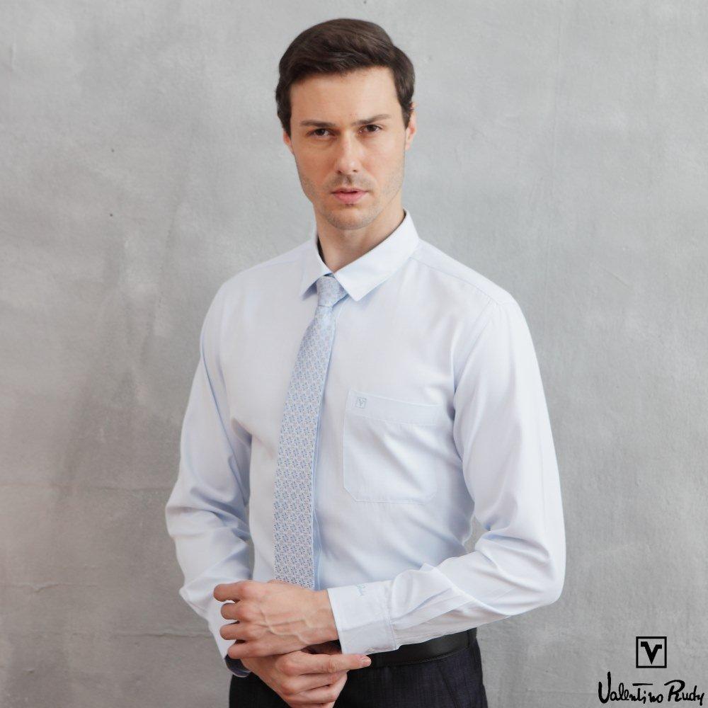 Valentino Rudy范倫鐵諾.路迪【修身版】長袖襯衫-淡藍色