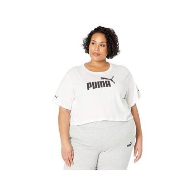プーマ Plus Size Essential Cropped Logo Tee レディース シャツ トップス PUMA White