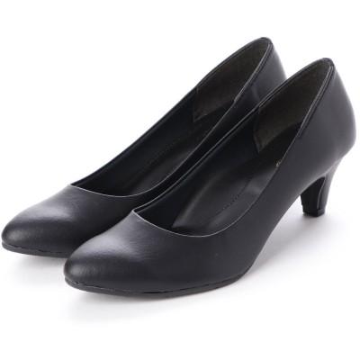 リーカ RiiiKa ポインテッドトゥレインパンプス55 (black)