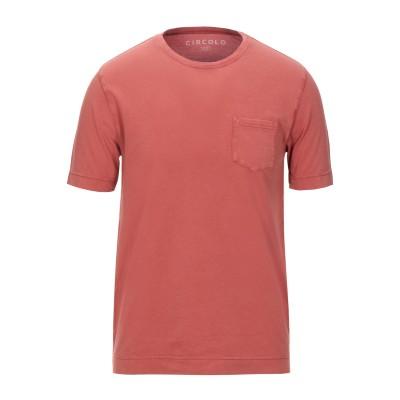 チルコロ 1901 CIRCOLO 1901 T シャツ 赤茶色 S コットン 97% / ポリウレタン 3% T シャツ