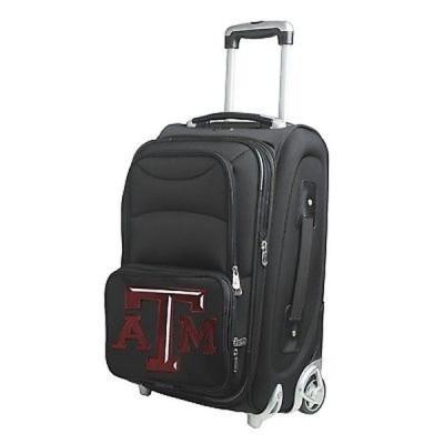 Denco Sports 海外直輸入ブランドアクセサリー Denco Texas A&M ブラック ナイロン 21-inch Carry-on 8-wheel Spinner Suitcase