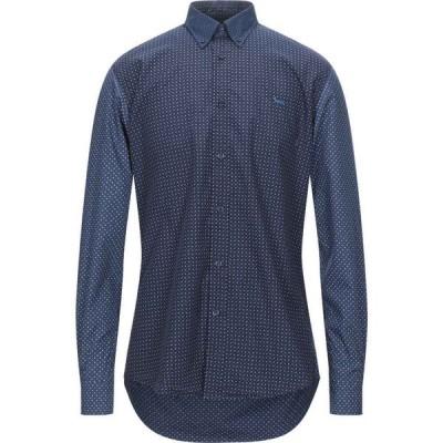 ハーモント アンド ブレイン HARMONT&BLAINE メンズ シャツ トップス patterned shirt Dark blue