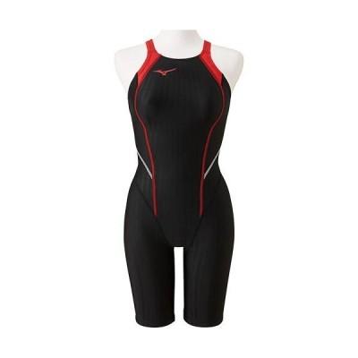 ミズノ(MIZUNO) ジュニア 競泳水着 ハーフスーツ レースオープンバック ブラック×レッド N2MG0420 96 FINA承認 男子用競泳水着 男の子 競技用 水着