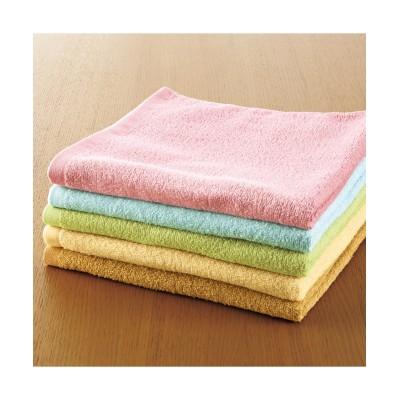 デイリーカラー超薄手バスタオル5枚セット バスタオル, Towels(ニッセン、nissen)