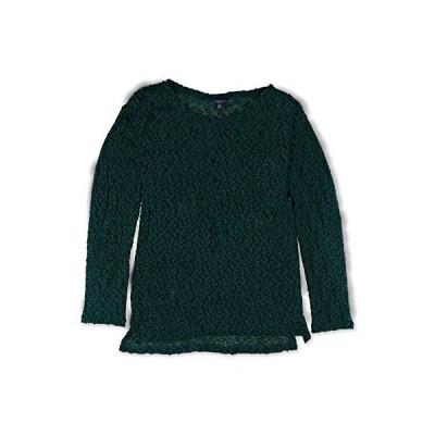 Aeropostale Womens Sheer Lace Knit Sweater, Green, X-Small並行輸入品 送料無料