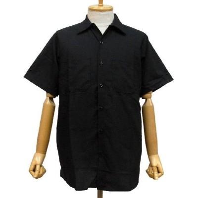 RED KAP PLAIN SHORT SLEEVED WORKSHIRT - BLACK / RED KAP レッドキャップ ワークシャツ プレーン 無地 重ね着