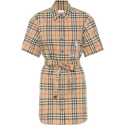 バーバリー Burberry レディース ワンピース ワンピース・ドレス vintage check cotton minidress Archive Beige Ip Check