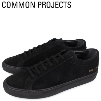 Common Projects コモンプロジェクト アキレス ロー スエード スニーカー メンズ ACHILLES LOW SUEDE ブラック 黒 2252-7547