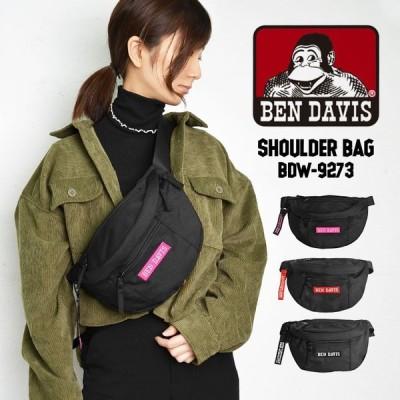 ボディバッグ レディース ブランド メンズ BEN DAVIS ベンデイビス 斜めがけ ウエストバッグ マザーズバッグ おしゃれ ブラック ロゴ