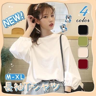 販売韓国ファッション 長袖シャツ着痩せ トップスTシャツ 长袖 トップス/ブラウス/スカート/ズボン