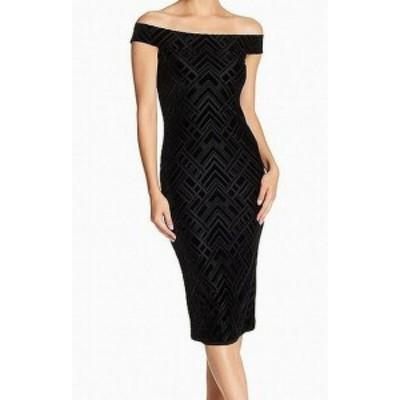 Dress the Population ドレスザポピュレーション ファッション ドレス Dress The Population Womens Velvet Print Small S Sheath Dress